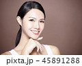 young smiling woman with natural makeup 45891288
