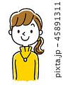 ベクター 女性 若いのイラスト 45891311