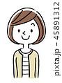 ベクター 人物 女性のイラスト 45891312