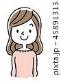 ベクター 女性 若いのイラスト 45891313