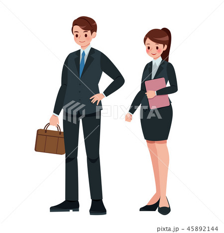 Cartoon business man and woman 45892144