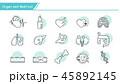 ハート ハートマーク 心臓のイラスト 45892145