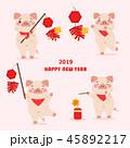 2019 中国新年 中国正月のイラスト 45892217