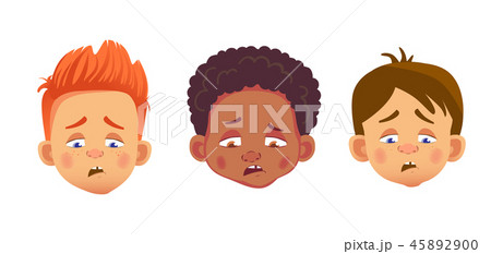 faces of boys character set 45892900