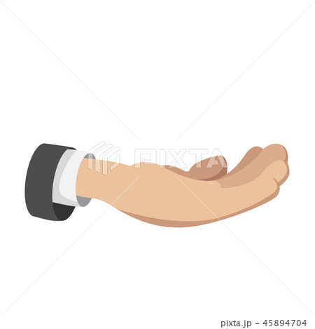 Man open hand cartoon icon 45894704