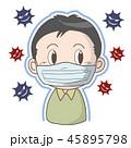 インフルエンザ 風邪 マスクのイラスト 45895798