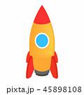 ロケット 立体 3Dのイラスト 45898108