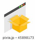 ボックス ベクトル 立体のイラスト 45898173