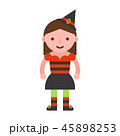 コスチューム 服装 女の子のイラスト 45898253