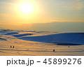 鳥取砂丘 雪 風景の写真 45899276