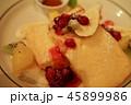 朝食の果物とフレンチトースト 45899986