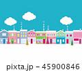 街並み クリスマス 雲のイラスト 45900846