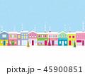 街並み クリスマス 雪のイラスト 45900851