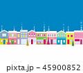 街並み クリスマス 雪のイラスト 45900852