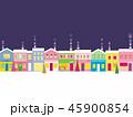街並み クリスマス 雪のイラスト 45900854