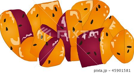 大学芋のイラスト素材 45901581 Pixta