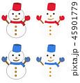 雪だるま 45901779