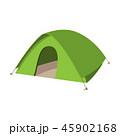 キャンプ 野営 テントのイラスト 45902168
