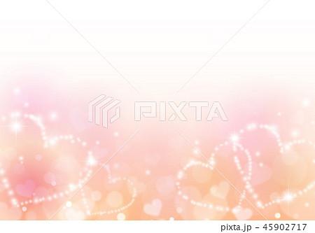 ピンクキラキラハートイメージ背景 45902717