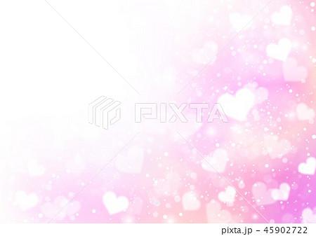 ハート背景キラキラピンク 45902722