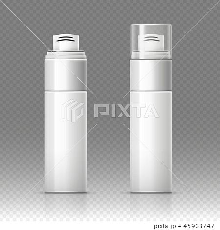 Shaving foam cosmetic bottle sprayer container vector illustration 45903747