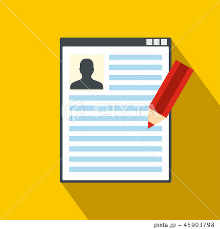 Paper sheet document and pencil flat icon  45903798