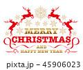 クリスマス メリークリスマス バッジのイラスト 45906023