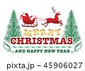 クリスマス メリークリスマス バッジのイラスト 45906027