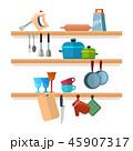 キッチン 台所 棚のイラスト 45907317