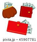 お財布 サイフ 財布のイラスト 45907781
