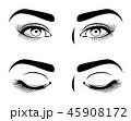 目 眼 まつ毛のイラスト 45908172