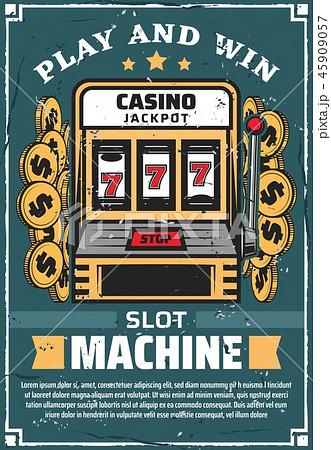 Casino gambling club slot machine, vector 45909057
