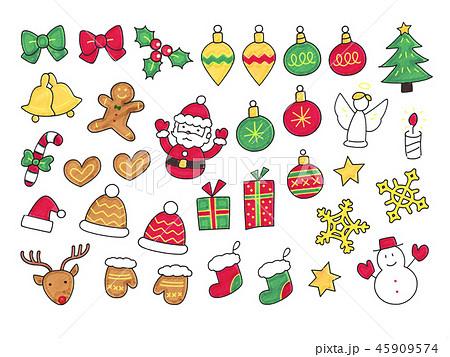 クリスマス手書きイラストのイラスト素材 45909574 Pixta