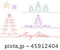 Geometric Christmas card, vector design elements 45912404