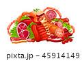 お肉 ミート 精肉のイラスト 45914149