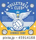 スポーツ バレー バレーボールのイラスト 45914168