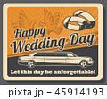 ウェディング ウエディング 結婚のイラスト 45914193
