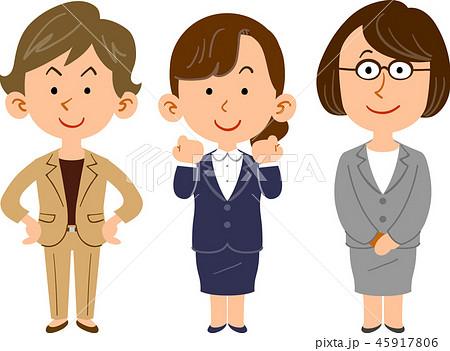 働く女性のチーム 会社員 45917806