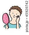 手鏡 女性 ビューティーのイラスト 45920742