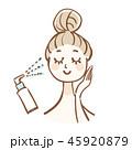 スキンケア 女性 ビューティーのイラスト 45920879