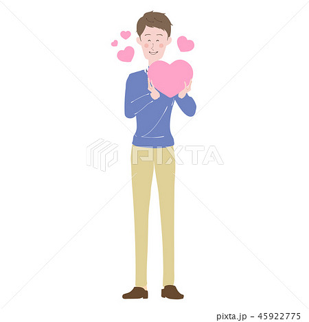男性 ハート ピンク 思いやり ホワイトデー 45922775