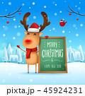 クリスマス レインディア ボードのイラスト 45924231