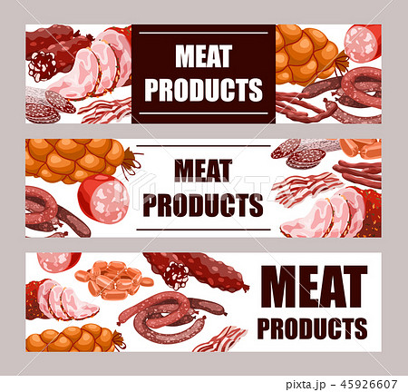 Meat Products Banners 45926607