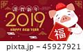 2019 中国新年 中国正月のイラスト 45927921