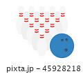 ボウリング ピン ゲームのイラスト 45928218