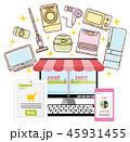 ネットショッピング オンラインショッピング 買い物のイラスト 45931455