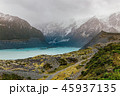 Hooker Valley Track hiking trail, New Zealand. 45937135