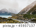 Hooker Valley Track hiking trail, New Zealand. 45937137