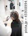 美容室シーン ヘアカラーメージ perming 写真素材 45938994
