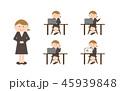 ビジネス デスクワーク OLのイラスト 45939848